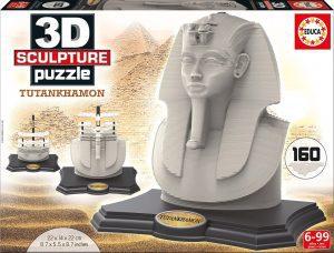 Los mejores puzzles de Egipto - Puzzle de Tutankamón en 3D de 160 piezas