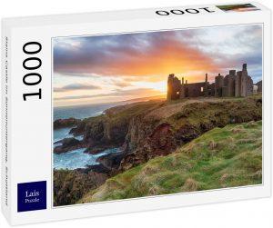 Los mejores puzzles de Escocia - Puzzle de 1000 piezas del Castillo de Slains en Escocia de Lais