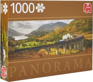 Los mejores puzzles de Escocia - Puzzle de 1000 piezas del Ferrocarril Glenfinnan de Jumbo