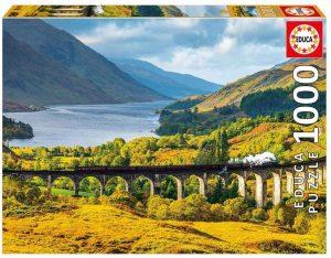 Los mejores puzzles de Escocia - Puzzle de 1000 piezas del Viaducto de Glenfinnan en Escocia de Educa