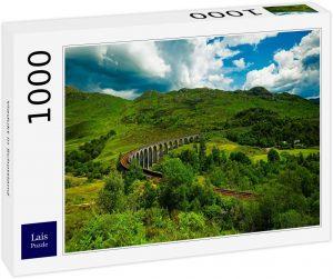 Los mejores puzzles de Escocia - Puzzle de 1000 piezas del Viaducto de Glenfinnan en Escocia de Lais