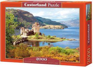 Los mejores puzzles de Escocia - Puzzle de 2000 piezas de lEilean Donan Castle en Escocia de Castorland