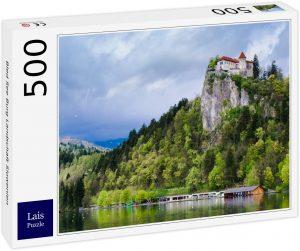 Los mejores puzzles de Eslovenia - Puzzle de 500 piezas del Castillo del Lago Bled en Eslovenia