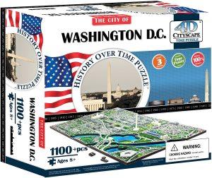 Los mejores puzzles de Washington DC - Puzzle de Washington DC en 4D de 1100 piezas