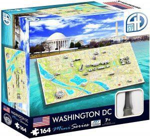 Los mejores puzzles de Washington DC - Puzzle de Washington DC en miniatura en 4D