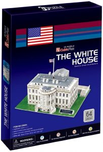 Los mejores puzzles de Washington DC - Puzzle de la Casa Blanca en 3D de 64 piezas