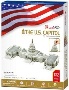 Los mejores puzzles de Washington DC - Puzzle del Capitolio de Washington DC en 3D de 132 piezas