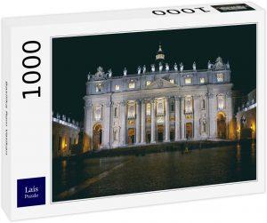 Los mejores puzzles de la Basílica de San Pedro en el Vaticano - Puzzle de la Basílica de San Pedro de 1000 piezas de Lais de noche