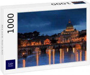 Los mejores puzzles de la Basílica de San Pedro en el Vaticano - Puzzle de la Basílica de San Pedro de 1000 piezas de Lais iluminada