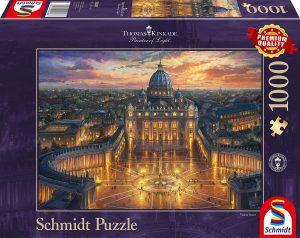 Los mejores puzzles de la Basílica de San Pedro en el Vaticano - Puzzle de la Basílica de San Pedro de 1000 piezas de Schmidt