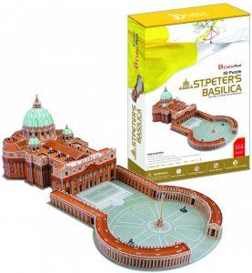 Los mejores puzzles de la Basílica de San Pedro en el Vaticano - Puzzle de la Basílica de San Pedro en 3D