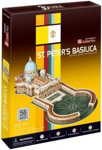 Los mejores puzzles de la Basílica de San Pedro en el Vaticano - Puzzle de la Basílica de San Pedro en 3D de 56 piezas