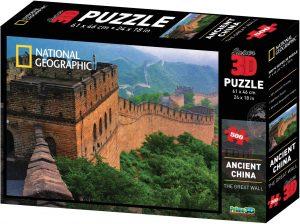 Los mejores puzzles de la Gran Muralla China - Puzzle de la Gran Muralla de 500 piezas con efecto 3D