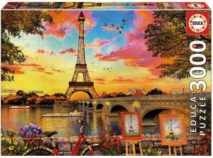 Los mejores puzzles de la Torre Eiffel- Puzzle de la Torre Eiffel de 3000 piezas de puesta de sol