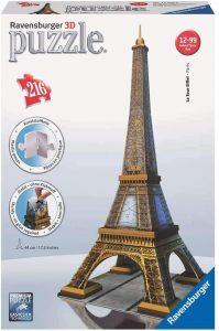 Los mejores puzzles de la Torre Eiffel- Puzzle de la Torre Eiffel en 3D de día