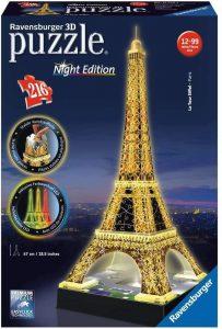 Los mejores puzzles de la Torre Eiffel- Puzzle de la Torre Eiffel en 3D de noche