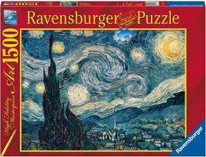 Los mejores puzzles de la noche estrellada de Van Gogh - Puzzle de 1500 piezas de la noche estrellada de Van Gogh de Clementoni