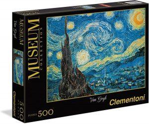 Los mejores puzzles de la noche estrellada de Van Gogh - Puzzle de 500 piezas de la noche estrellada de Van Gogh de Clementoni