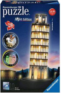 Los mejores puzzles de la torre de Pisa - Puzzle de la Torre de Pisa en 3D de noche