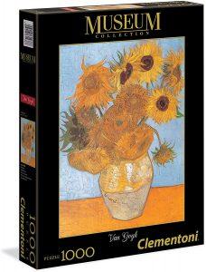 Los mejores puzzles de los girasoles - Puzzle de 1000 piezas de los Girasoles de Van Gogh de Clementoni
