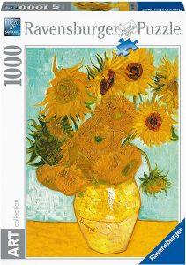 Los mejores puzzles de los girasoles - Puzzle de 1000 piezas de los Girasoles de Van Gogh de Ravensburger 2