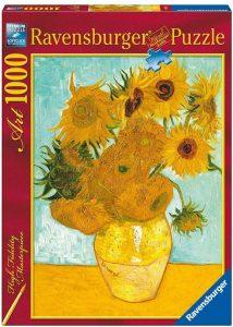 Los mejores puzzles de los girasoles - Puzzle de 1000 piezas de los Girasoles de Van Gogh de Ravensburger