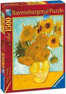 Los mejores puzzles de los girasoles - Puzzle de 1500 piezas de los Girasoles de Van Gogh de Ravensburger
