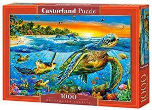 Los mejores puzzles de tortugas - Puzzle de 1000 piezas de tortugas marinas de Castorland