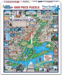 Puzzle de Washington DC de 1000 piezas de White Mountain Puzzles - Los mejores puzzles de ciudades de EEUU - Puzzle de Washington DC