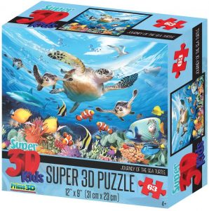 Puzzle de tortugas de Howard Robinson de 63 piezas - Los mejores puzzles de tortugas
