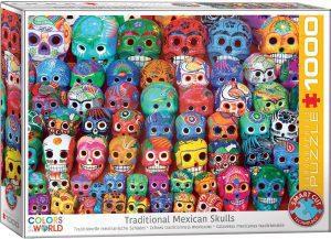 Puzzles de máscaras mexicanas del día de los muertos - Puzzle de calaveras mexicanas del día de los muertos de 1000 piezas