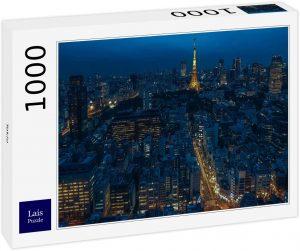 Los mejores puzzles de Japón - Puzzle de 1000 piezas de Tokio de noche iluminado en Japón de Lais