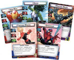 Juegos de mesa de Fantasy Flight Games de Marvel Contest of Champiosn de cartas