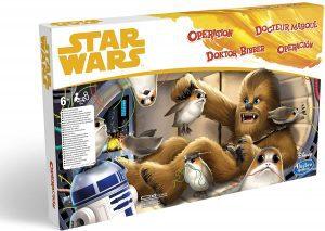 Juegos de mesa de Operación de Star Wars de Chewbacca de Hasbro para niños