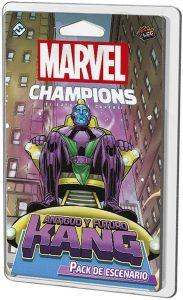 Juegos de mesa de cartas de Marvel Champions. Pack de escenario de Antiguo y Futuro Kang