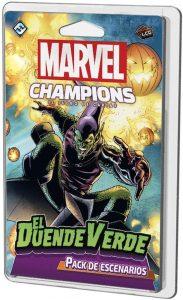 Juegos de mesa de cartas de Marvel Champions. Pack de escenario del Duende Verde