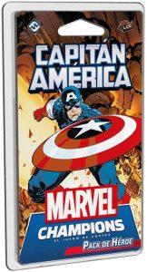 Juegos de mesa de cartas de Marvel Champions. Pack de héroe del Capitán América
