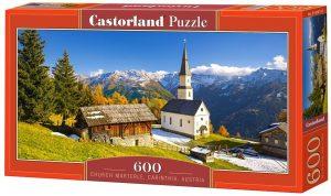 Los mejores puzzles de Austria - Puzzle de 600 piezas de Iglesia Marterle en Austria de Castorland