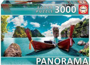 Los mejores puzzles de Tailandia - Puzzle de 3000 piezas de playa en Tailandia de Educa