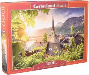 Puzzle de postal de Hallstatt de Castorland de 500 piezas - Los mejores puzzles de Austria