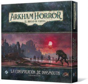 Juego de mesa de Arkham Horror de Fantasy Flight Games Expansión La conspiración de Innsmouth - Los mejores juegos de mesa de cartas de Arkham Horro - Juego de mesa de cartas