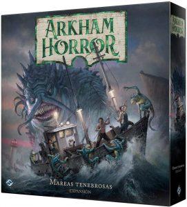Juego de mesa de Arkham Horror de Fantasy Flight Games Expansión Mareas tenebrosas - Los mejores juegos de mesa de cartas de Arkham Horro - Juego de mesa de cartas