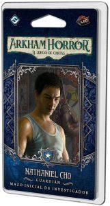 Juego de mesa de Arkham Horror de Fantasy Flight Games Expansión Mazo de investigador Nathaniel Cho - Los mejores juegos de mesa de cartas de Arkham Horro - Juego de mesa de cartas