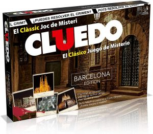 Juego de mesa de Cluedo Barcelona en catalán de Hasbro - Los mejores juegos de mesa del Cluedo - Juego de mesa de misterio de Cluedo