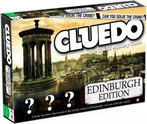 Juego de mesa de Cluedo Edimburgo en inglés de Hasbro - Los mejores juegos de mesa del Cluedo - Juego de mesa de misterio de Cluedo
