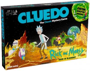 Juego de mesa de Cluedo Rick y Morty en inglés de Hasbro - Los mejores juegos de mesa del Cluedo - Juego de mesa de misterio de Cluedo