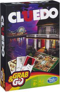 Juego de mesa de Cluedo de viaje de Hasbro - Los mejores juegos de mesa del Cluedo - Juego de mesa de misterio de Cluedo