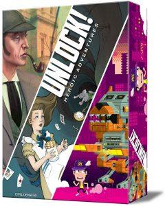 Juego de mesa de Sherlock Holmes de Unlock Heroic Adventures de Asmodee - Los mejores juegos de mesa de Sherlock Holmes
