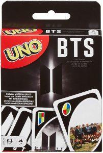 Juego de mesa de Uno BTS de Mattel - Los mejores juegos de mesa del UNO - Juego de mesa de cartas, el UNO