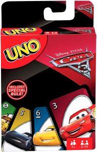 Juego de mesa de Uno Cars de Mattel - Los mejores juegos de mesa del UNO - Juego de mesa de cartas, el UNO